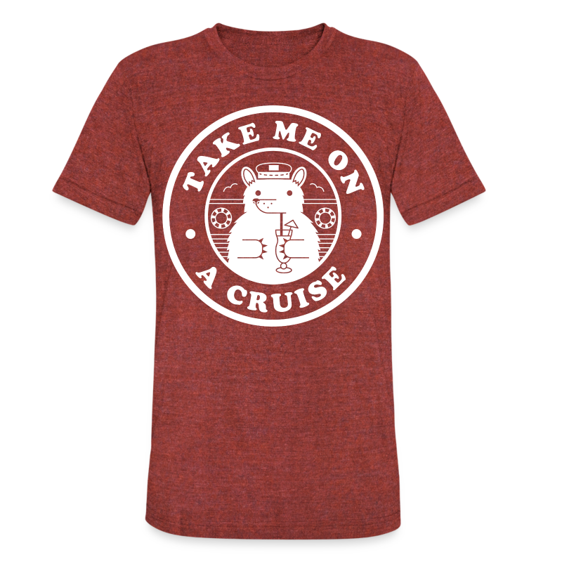 Take Me On A Cruise Tri-Blend White - Unisex Tri-Blend T-Shirt