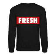 Long Sleeve Shirts ~ Men's Crewneck Sweatshirt ~ Fresh