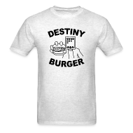 T-Shirts ~ Men's Standard Weight T-Shirt ~ Destiny Burger - Black (Men's)