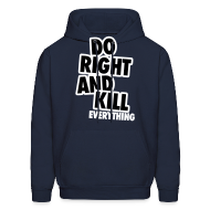 Hoodies ~ Men's Hooded Sweatshirt ~ Do Right...