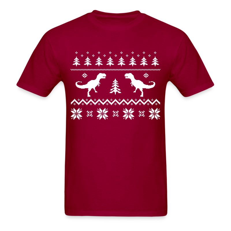 Ugly Christmas Shirt - T-Rex - Dinosaurs - Adult Shirt