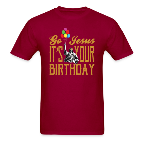 Go Jesus, It's Your Birthday - Christmas Shirt -  Mens Shirt