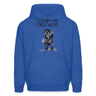 Hoodies ~ Men's Hooded Sweatshirt ~ I Love You Chicago