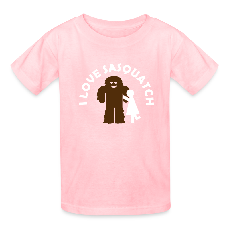 I Love Sasquatch Bigfoot Girls Shirt