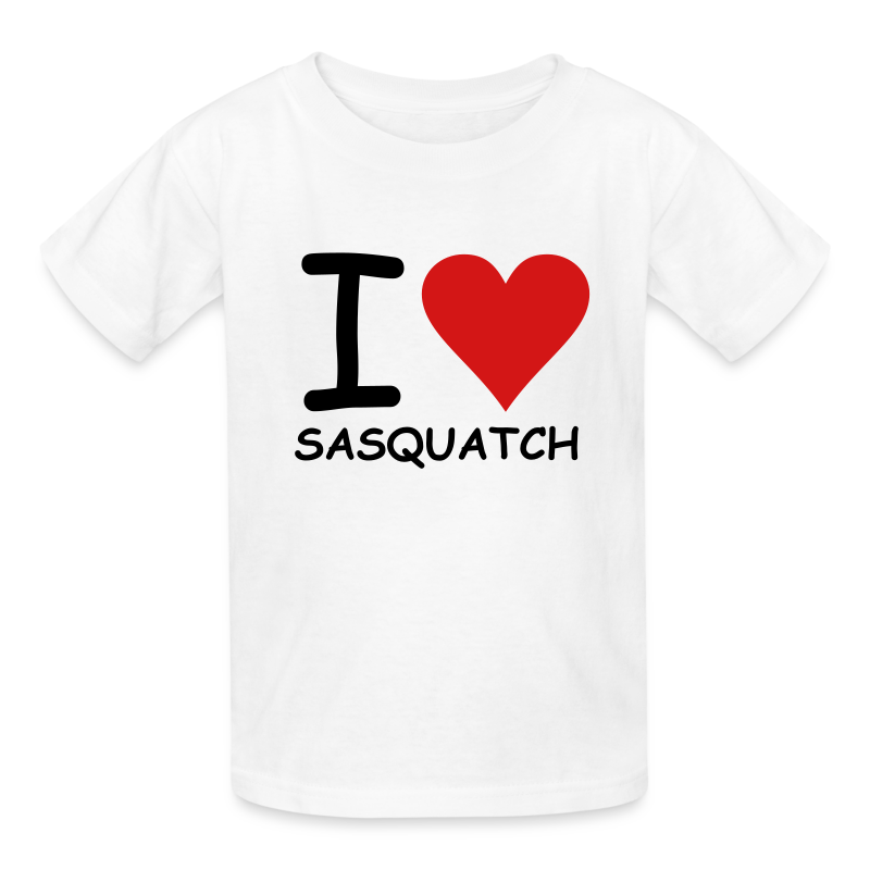 I Love Sasquatch Bigfoot Kids Shirt
