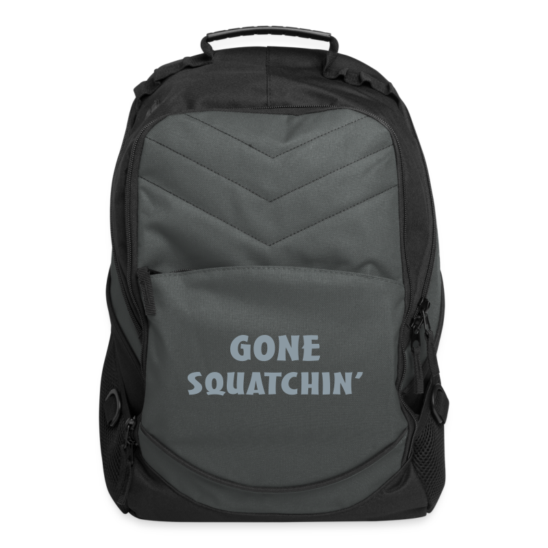 Gone Squatchin' Silver Reflective Bigfoot Sasquatch  Laptop Backpack