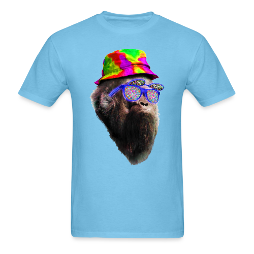 Raving with Sasquatch / Bigfoot Shirt - Rainbow Tie Dye
