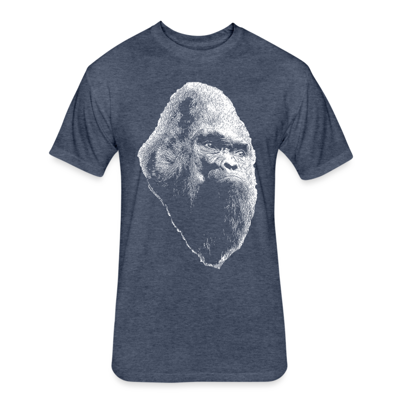 Large Print Vintage Sasquatch Bigfoot Shirt - Heather Colors