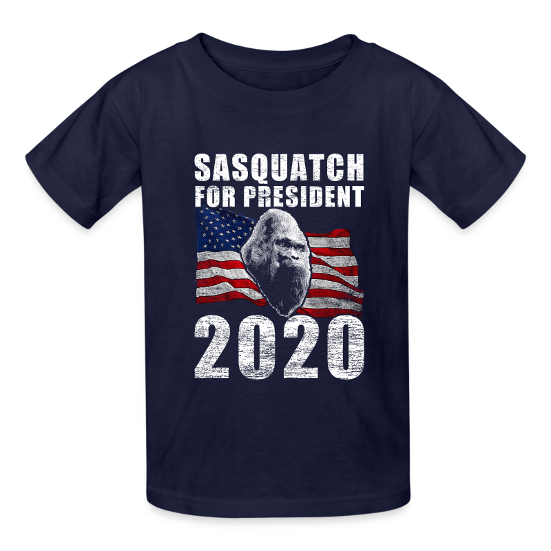 Sasquatch for President 2020 Poster Shirt - Kids Shirt
