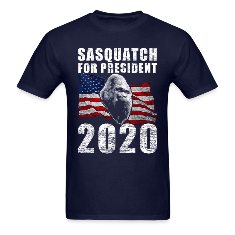 Sasquatch Bigfoot for President 2020 Election Year Poster Shirt - Adult Shirt