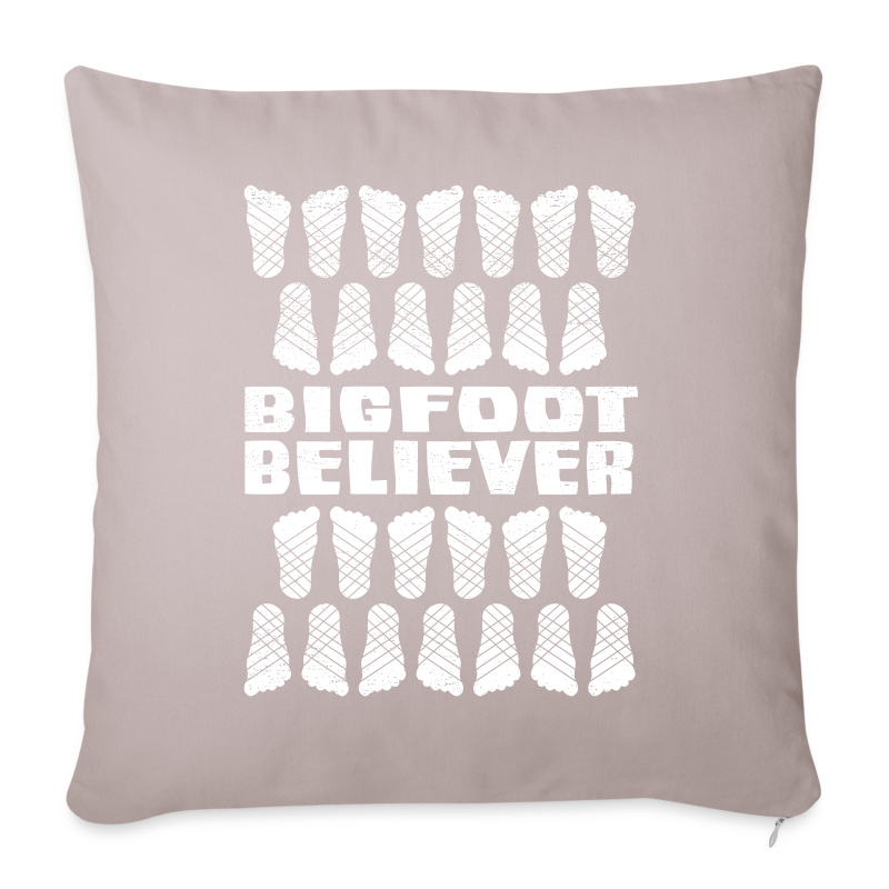 Bigfoot Believer Distressed Vintage Foot Pattern Sasquatch - Throw Pillow Cover