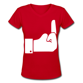 Like Middle Finger Women's T-Shirts | Stay Fly Clothing