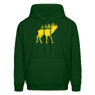 Hoodies ~ Men's Hooded Sweatshirt ~ animal t-shirt stag antler cervine deer buck night hunter bachelor