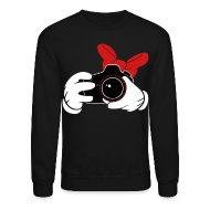 Long Sleeve Shirts ~ Men's Crewneck Sweatshirt ~ Bow DSLR