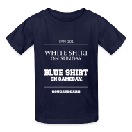 Kids' Shirts ~ Kids' T-Shirt ~ Blue Shirt on Gameday Kids T-Shirt
