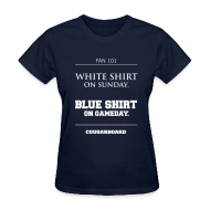 Women's T-Shirts ~ Women's Standard Weight T-Shirt ~ Blue Shirt on Gameday Women's T-Shirt