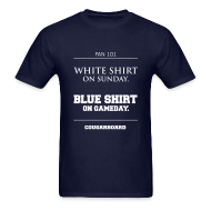 T-Shirts ~ Men's Standard Weight T-Shirt ~ Blue Shirt on Gameday T-shirt