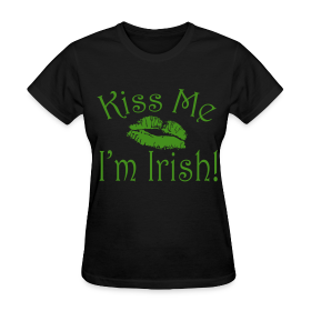 green glitter kiss me iu002639m irish womenu002639s tshirt st patricku002639s day glitter kiss me im irish gloss 280x280