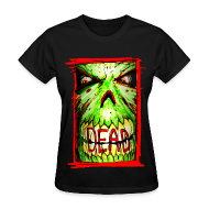 Women's T-Shirts ~ Women's Standard Weight T-Shirt ~ womens - dead zombie face