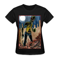 Women's T-Shirts ~ Women's Standard Weight T-Shirt ~ womens - zombie in ruins