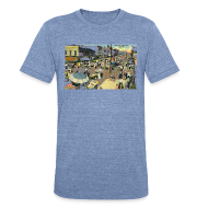 T-Shirts ~ Men's Tri-Blend Vintage T-Shirt ~ Maxwell Street Postcard, Early 1900's