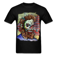 T-Shirts ~ Men's Standard Weight T-Shirt ~ mens living dead beard zombie