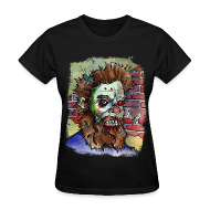 Women's T-Shirts ~ Women's Standard Weight T-Shirt ~ womens living dead beard zombie