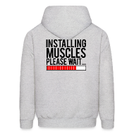 Hoodies ~ Men's Hooded Sweatshirt ~ Installing muscles please wait | Mens hoodie (back print)