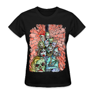 Women's T-Shirts ~ Women's Standard Weight T-Shirt ~ womens back alley zombie horde