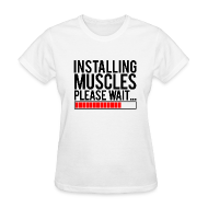 Women's T-Shirts ~ Women's Standard Weight T-Shirt ~ Installing muscles please wait | Womens tee