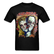 T-Shirts ~ Men's Standard Weight T-Shirt ~ mens two headed zombie