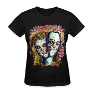 Women's T-Shirts ~ Women's Standard Weight T-Shirt ~ wmens two headed zombie