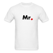 Mr with heart dot - part of Mr and Mrs set T-Shirts