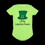 Baby & Toddler Shirts ~ Baby Short Sleeve One Piece ~ Little Leprechaun Baby One-Piece