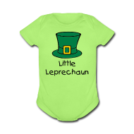 Baby & Toddler Shirts ~ Baby Short Sleeve One Piece ~ Little Leprechaun Baby One-Piece