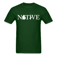 T-Shirts ~ Men's T-Shirt ~ Native Michigander