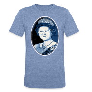 T-Shirts ~ Men's Tri-Blend Vintage T-Shirt ~ Go Queen Go!