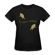 Women's T-Shirts ~ Women's Standard Weight T-Shirt ~ I Love Turtles