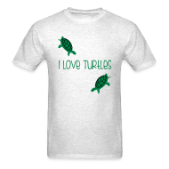 T-Shirts ~ Men's Standard Weight T-Shirt ~ I Love Turtles