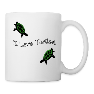 Bottles & Mugs ~ Coffee/Tea Mug ~ I Love Turtles Mug