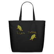 Bags & backpacks ~ Eco-Friendly Cotton Tote ~ I Love Turtles