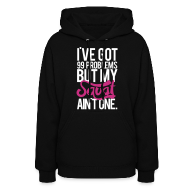 Hoodies ~ Women's Hooded Sweatshirt ~ Squat Aint One - m | Womens hoodie (front print)