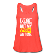 Tanks ~ Women's Flowy Tank Top by Bella ~ Squat Aint One - | Womens flowy tank