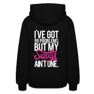 Hoodies ~ Women's Hooded Sweatshirt ~ Squat Aint One - m | Womens hoodie (back print)