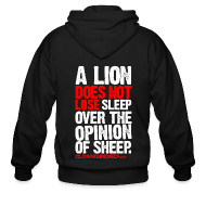 Zip Hoodies/Jackets ~ Men's Zipper Hoodie ~ A lion does not lose sleep | Mens Zipper hoodie