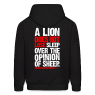 Hoodies ~ Men's Hooded Sweatshirt ~ A lion does not lose sleep | Mens hoodie