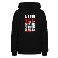 Hoodies ~ Women's Hooded Sweatshirt ~ A lion does not lose sleep | Womens hoodie