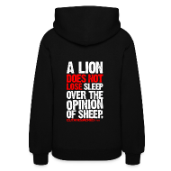 Hoodies ~ Women's Hooded Sweatshirt ~ A lion does not lose sleep | Womens hoodie (back print)