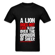 T-Shirts ~ Men's Standard Weight T-Shirt ~ A lion does not lose sleep | Mens Tee (wht pr)