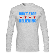 Long Sleeve Shirts ~ Men's Long Sleeve T-Shirt by American Apparel ~ Don't Stop Believing Flag